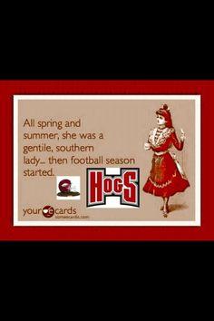 That's how we Arkansas girls roll!!! WPS!!!