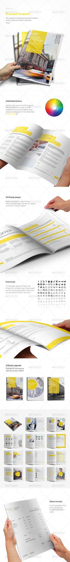Modern Proposal Contract and Invoice Proposals, Modern and Stationery - agent contract template