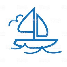 Summer sailboat outline line art flat icons - Royalty-free Blue stock vector Summer Icon, Flat Icons, Book And Magazine, Free Vector Art, Label Design, Photo Illustration, Magazine Design, Graphic Design Inspiration, Sailboat