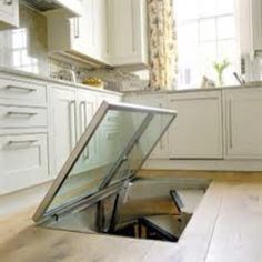 I love the trap door into the cellar idea. If only I was a millionaire. :)