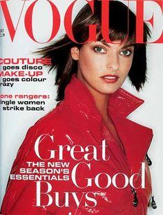 October 1994        Editor Elizabeth Tilberis      Cover Juergen Teller      Model Linda Evangelista