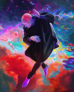 Singularité - Dorian Legret x Aeforia Framed Art Print by alexyprefontaine Fantasy Images, Fantasy Art, Character Art, Character Design, Psy Art, Psychedelic Art, Trippy, Dark Art, Framed Art Prints