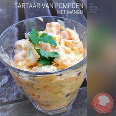 Tartaar van pompoen en mango