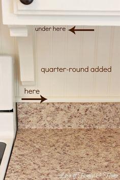Beadboard Backsplash, Corbel Love, & A Few Other Kitchen Updates.... - Love of Family & Home
