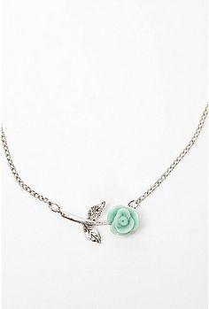 UrbanOutfitters.com > UO Tiny Rose Necklace - StyleSays