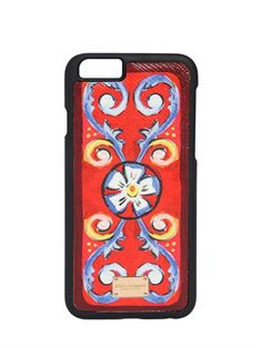 PRINTED DAUPHINE LEATHER IPHONE 6 CASE