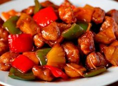 Pork in sweet and sour sauce