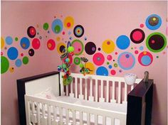 Not the colors - but the idea of polka dots on the wall