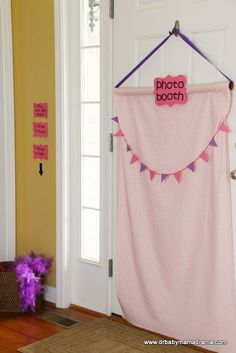 This photo booth idea is great for take home favors for each little princess.  Of course you can bling it up even more with lots of mirrored beads or large colored beads, sequins etc. #birthday Do a cookie themed photo booth and email pics to customers