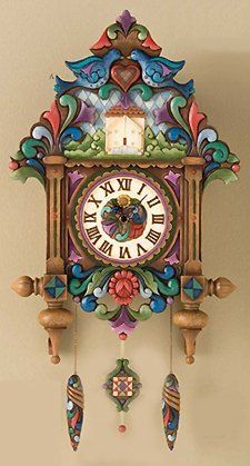 Jim Shore / Heartwood Creek Clock Masterpiece Cuckoo Clock: Old Time Tradition Old Clocks, Cuckoo Clocks, Vintage Clocks, Coo Coo Clock, Tick Tock Clock, Cute Clock, Clock Shop, Unique Clocks, Disney Traditions
