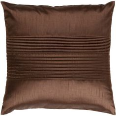 Surya Brown Pleated Band Pillow ($31) ❤ liked on Polyvore featuring home, home decor, throw pillows, pillows, filler, handmade home decor, brown toss pillows, surya, brown home decor and brown throw pillows
