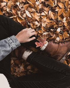 ↠ today i sat in a pile of the prettiest fall leaves, how about you? Autumn Aesthetic, Aesthetic Photo, Autumn Photography, Photography Poses, Autumn Cozy, Autumn Fall, Foto Instagram, Foto Pose, Hello Autumn