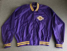 Your place to buy and sell all things handmade College Apparel, Vintage Football, Vintage Jacket, College Outfits, Overalls, Washington, Bomber Jacket, Sleeves, How To Wear