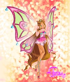 Flora Enchantix by AstralBlu on DeviantArt Flora Winx, Fairy Pictures, Winx Club, Disney Characters, Fictional Characters, Bloom, Princess Zelda, Deviantart, Fantasy