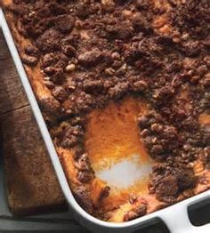 sweet potato with pecan topping - Bing Images