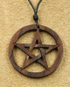 tolles Pentagramm keltischerSchmuck Holz Anhänger Online kaufen