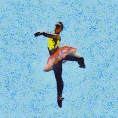 painted dancing ballerina GIFs by ryan enn hughes via @designboom
