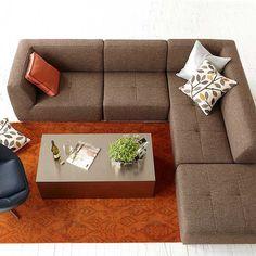 Kasala   Modern 4 Piece Fabric Sectional And Ottoman   Modern Furniture  Seattle