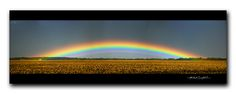 Incredible low-arch rainbow with supernumeraries (panorama) | by StormLoverSwin93 | Into the Storm
