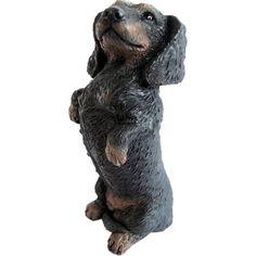 Sandicast Dachshund Figurine Hand Painted Black