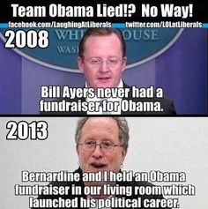 OOPS! Ayers forgot to clear that one with his buddy,..how many lies are the media just going to cover up...