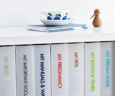 Family Command Centre: Tip // Store paperwork and family documents below your command centre as shown. This way all important information is in one easily located spot, saving you time and stress when you need to find something in a hurry. Organise documents in the colourful My Series Folders for a practical and stylish solution. Click for more on the blog. xx