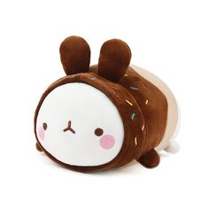 """Molang Rabbit Character Soft Plush Toy Donuts 23cm 9"""" #Molang Food Pillows, Sweet Little Things, Molang, Cute Stuffed Animals, Cute Plush, Dolls For Sale, Cute Japanese, Plush Animals, Cute Icons"""