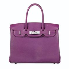 A VIOLET LEATHER BIRKIN BAG BY HERMÈS, 2005