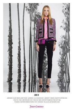 Dressed up Chanel look for Juicy Couture.