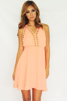 Neon Salmon Dress