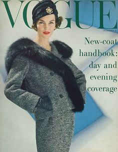 Ciao Bellissima - Vintage Cover Coquettes; Vogue October 1956