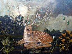 Crowned Fawn by Anne Siems