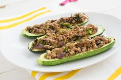 Stuffed Zucchini with Quinoa & Peanut Sauce + Other Peanut Buttery Things