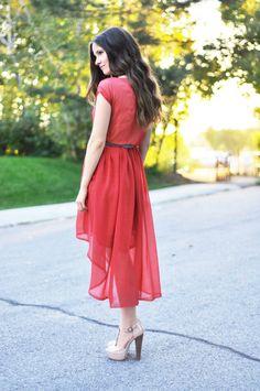 C: Sheer high low dress tutorial