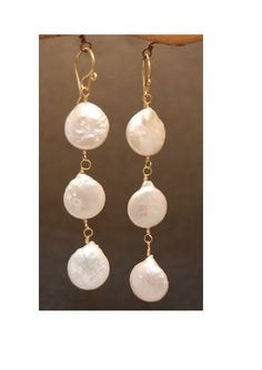 Cosmopolitan 55 Ivory coin pearls by CalicoJunoJewelry on Etsy, $48.00