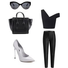style by americanescapestyle on Polyvore featuring moda, Maticevski, Karl Lagerfeld and Casadei