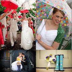Bodas con lluvia...bodas también divertidas