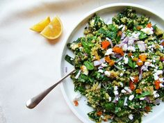 Mediterranean green tea quinoa salad recipe fannetastic food spinach and quinoa salad with dried apricots forumfinder Choice Image