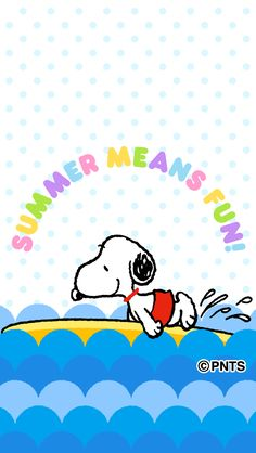 Summer means fun! Images Snoopy, Snoopy Pictures, Peanuts By Schulz, Peanuts Snoopy, Charlie Brown Et Snoopy, Snoopy Et Woodstock, Diy Teddy Bear, Snoopy Quotes, Peanuts Quotes