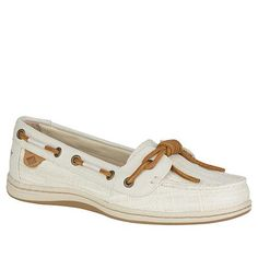 Sperry Barrelfish Leather and Linen Boat Shoe