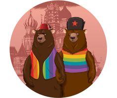 16 Original Illustrations That Protest Putin's Homophobia | Advocate.com