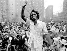 Soul singer James Brown sings in to a vintage microphone as he performs onstage in 1962 in New York, New York.Photo of James BROWN; James Brown, Get On Up, The Godfather, Popular Music, American Singers, Record Producer, Black History, Black Men, Hip Hop