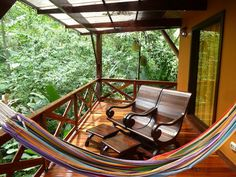 Balcony in Costa Rica...  Sitting in the rainforest, howler monkeys, toucans, rain, flora...perfection.