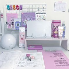 Study Room Decor, Cute Room Decor, Bedroom Decor, Study Desk Organization, Play Kitchen Accessories, Uni Room, Kawaii Room, Aesthetic Room Decor, Daughters Room