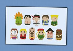 Street Fighter - Videogames - Mini People - Cross Stitch Patterns - Products
