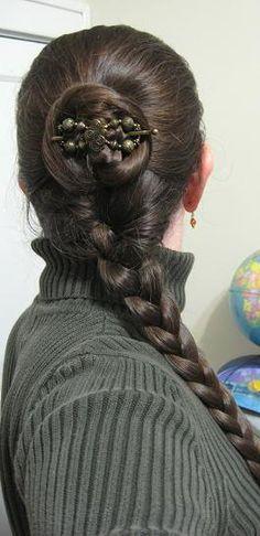 Flexi 8 half up with braid