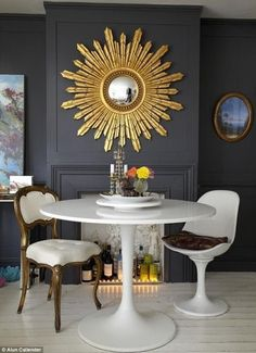 My Cats & Interior Ideas: Sunburst mirror