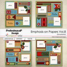 Emphasis on papers Templates Vol.8 by PrelestnayaP Design
