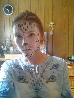 Snow leopard face paint by Veronique Jean (unicornfield)