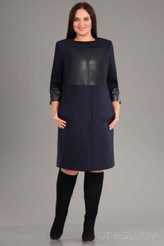 Coat for obese women leading Belarusian women- Coats for obese women of leading Belarusian manufacturers, autumn-winter - Big Fashion, Hijab Fashion, Autumn Fashion, Fashion Dresses, Plus Fashion, Hijab Evening Dress, Evening Dresses, Winter Dresses, Casual Dresses